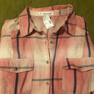 Long sleeve button down blouse by Maurice's.